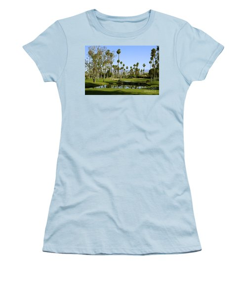 Rancho Mirage Golf Course Women's T-Shirt (Junior Cut) by Nina Prommer