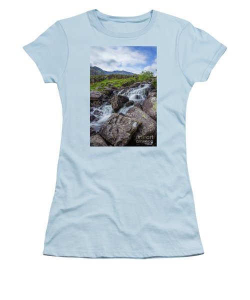 Rapids Of Snowdonia Women's T-Shirt (Athletic Fit)