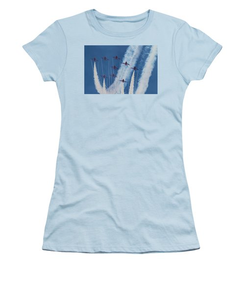Red Arrows At Duxford Women's T-Shirt (Athletic Fit)