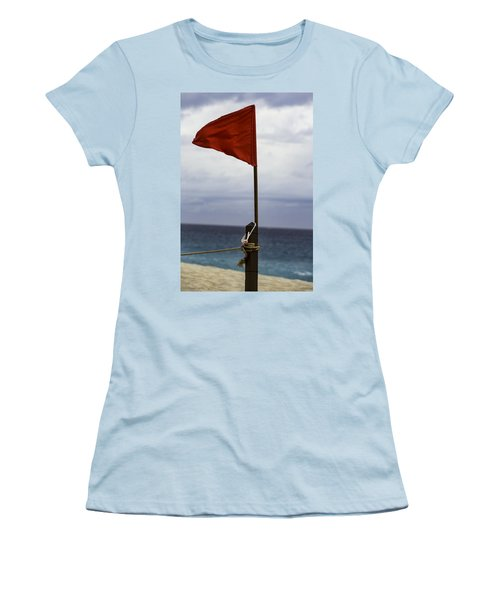 Red Flag Warning Women's T-Shirt (Athletic Fit)
