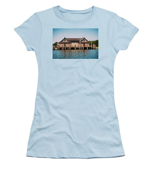 Women's T-Shirt (Junior Cut) featuring the photograph Red Flowers by Art Block Collections