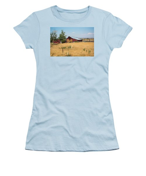 Red Home On The Range Women's T-Shirt (Athletic Fit)