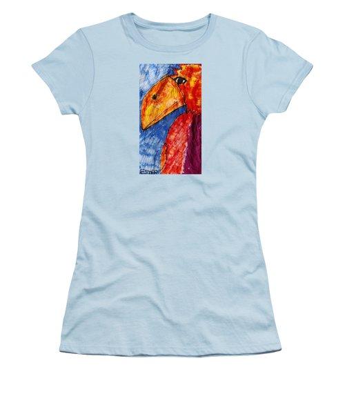 Red Parrot Women's T-Shirt (Junior Cut) by Don Koester