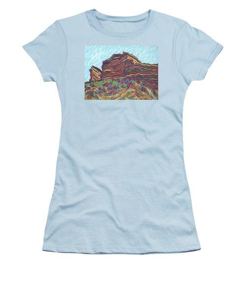Red Rocks Women's T-Shirt (Junior Cut) by Robert SORENSEN