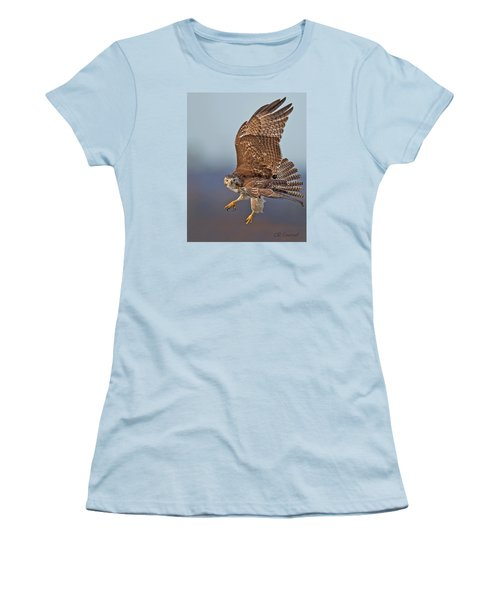 Red-tailed Hawk In Flight Women's T-Shirt (Athletic Fit)