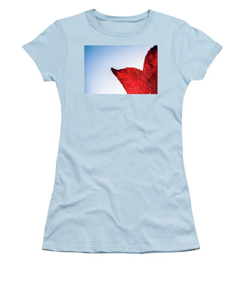 Women's T-Shirt (Athletic Fit) featuring the photograph Red White  Blue by Jingjits Photography