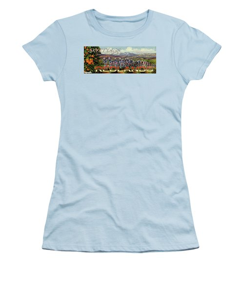 Redlands Greetings Women's T-Shirt (Junior Cut) by Linda Weinstock