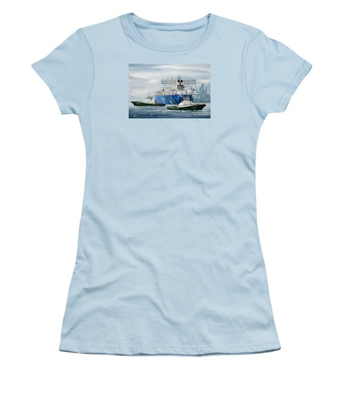 Refinery Tanker Escort Women's T-Shirt (Junior Cut) by James Williamson