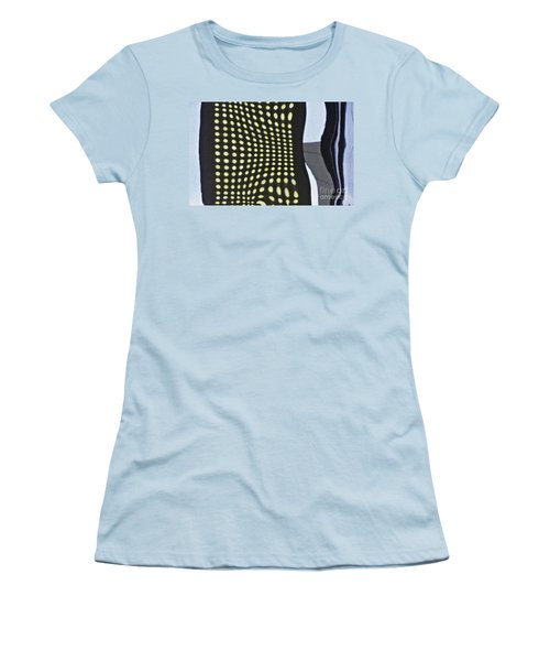 Women's T-Shirt (Junior Cut) featuring the photograph Reflection On 42nd Street 2 by Sarah Loft