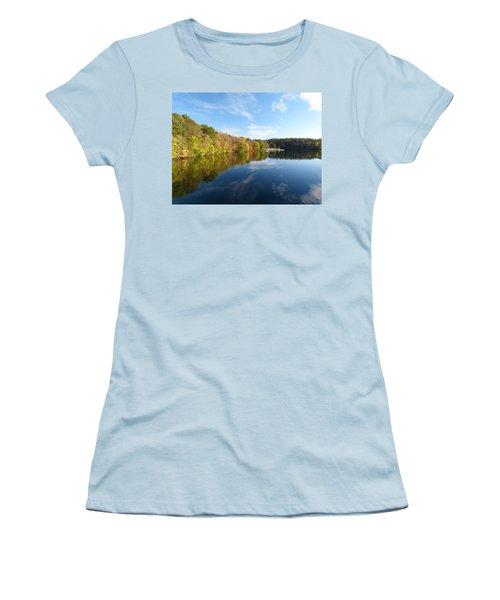 Reflections Of Autumn Women's T-Shirt (Junior Cut) by Donald C Morgan