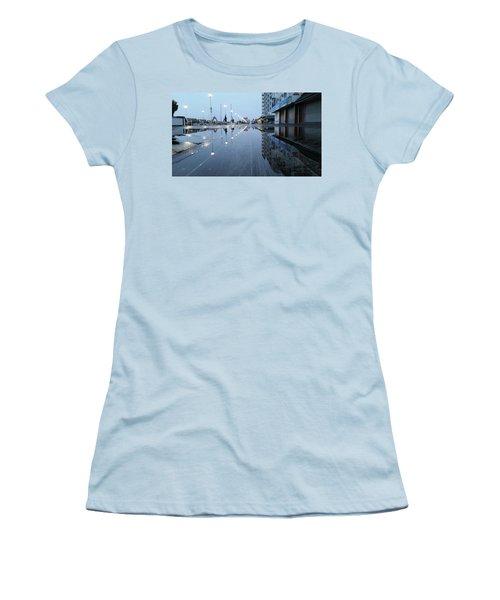 Reflections Of The Boardwalk Women's T-Shirt (Junior Cut) by Robert Banach
