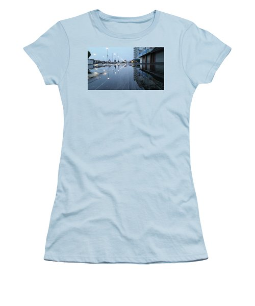 Reflections Of The Boardwalk Women's T-Shirt (Junior Cut)