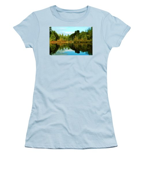 Women's T-Shirt (Junior Cut) featuring the digital art Reflections by Timothy Hack