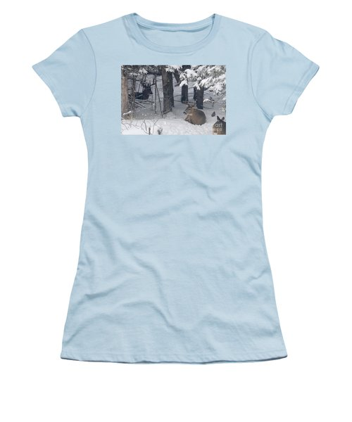 Resting Women's T-Shirt (Junior Cut) by Sandra Updyke
