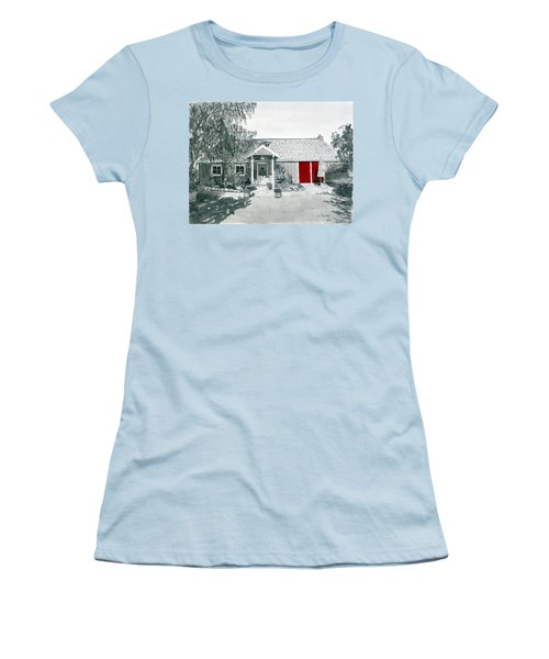 Retzlaff Winery With Red Door No. 2 Women's T-Shirt (Junior Cut) by Mike Robles