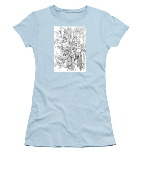 Ribboned Women's T-Shirt (Junior Cut) by Charles Cater