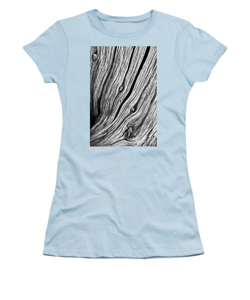 Women's T-Shirt (Junior Cut) featuring the photograph Ridges - Bw by Werner Padarin