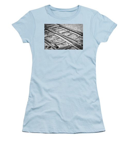 Women's T-Shirt (Athletic Fit) featuring the photograph Riding The Rail by Colleen Coccia