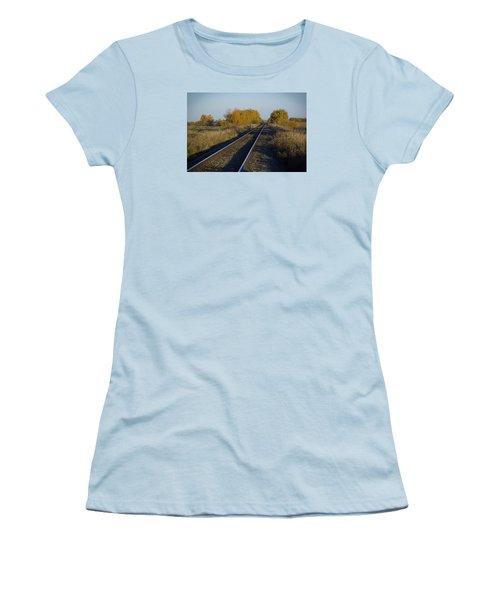 Riding The Rails Women's T-Shirt (Junior Cut) by Ellery Russell