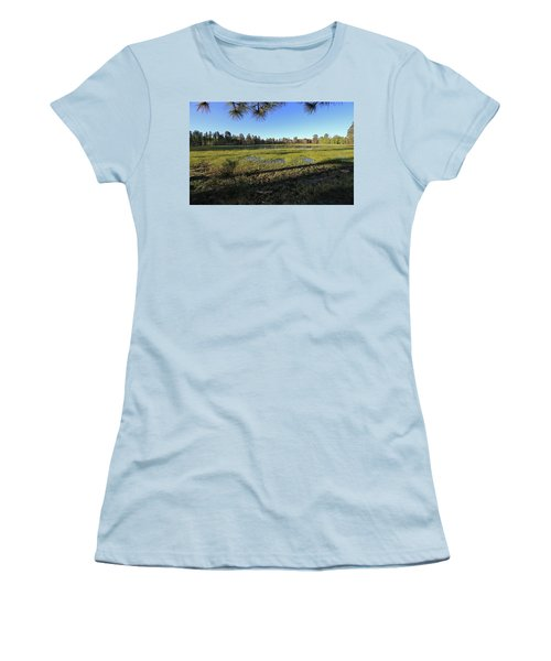 Women's T-Shirt (Junior Cut) featuring the photograph Rim Glade by Gary Kaylor