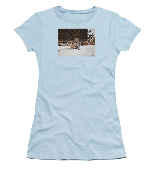 Women's T-Shirt (Junior Cut) featuring the painting Ring The Dinner Bell by Jeffrey Koss