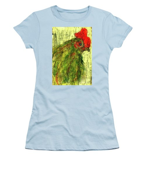 Women's T-Shirt (Junior Cut) featuring the drawing Rise And Shine  by P J Lewis
