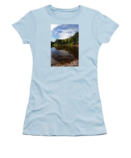 Women's T-Shirt (Junior Cut) featuring the photograph River Beauty by Sandra Updyke