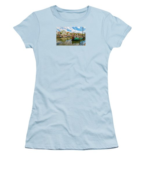 River Scene In Rotterdam Women's T-Shirt (Athletic Fit)