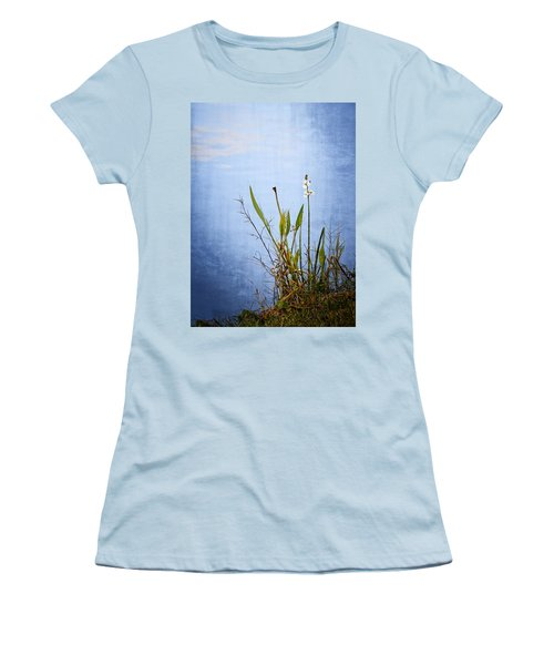Women's T-Shirt (Junior Cut) featuring the photograph Riverbank Beauty by Carolyn Marshall