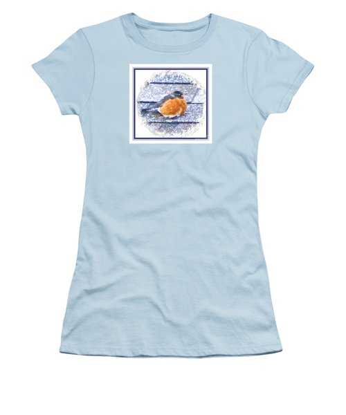 Robin Too Fat To Fly Women's T-Shirt (Athletic Fit)