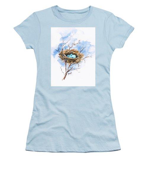 Robin's Nest Women's T-Shirt (Junior Cut) by Sam Sidders