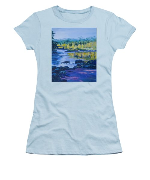 Rock Creek Fishing Hole Women's T-Shirt (Athletic Fit)