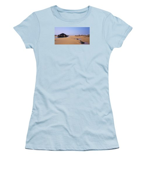 Rock Pools Women's T-Shirt (Junior Cut) by Richard Brookes