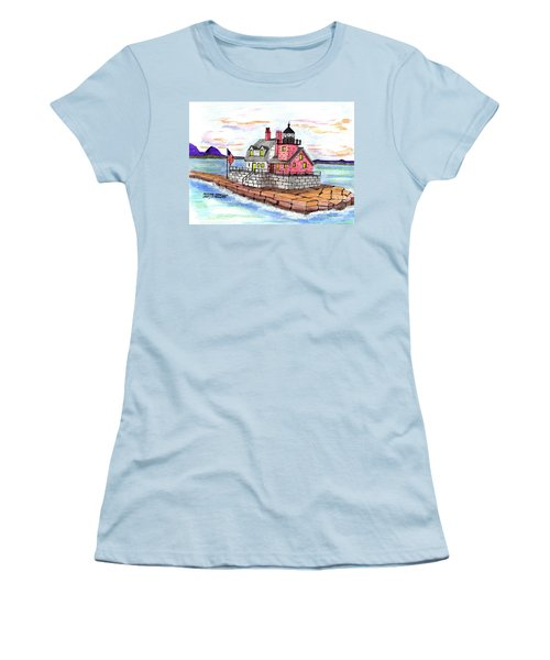 Rockland Breakwater Light Women's T-Shirt (Junior Cut) by Paul Meinerth