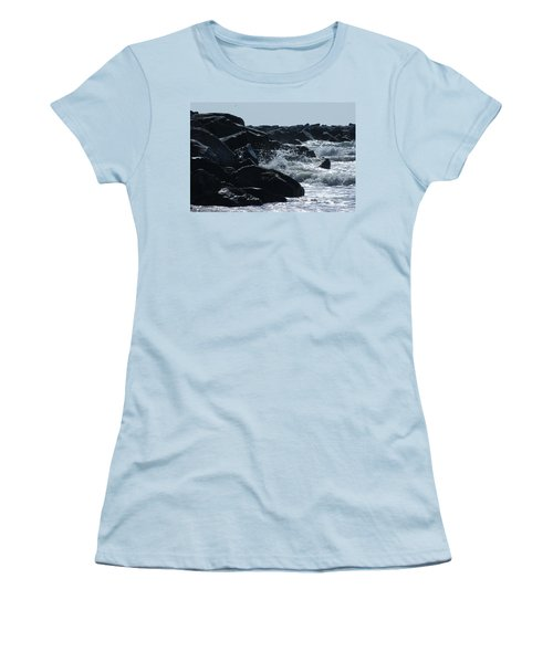 Rocks On The Jetti At Cocoa Beach Women's T-Shirt (Junior Cut)