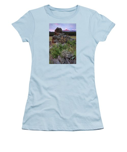 Rocky Mountain Sunrise Women's T-Shirt (Junior Cut) by John Vose