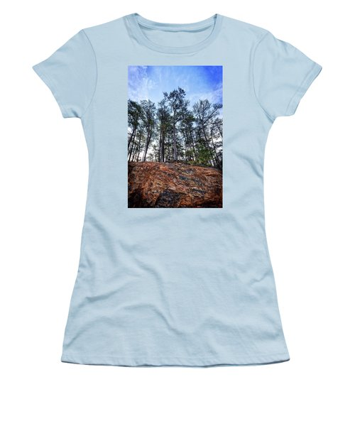 Women's T-Shirt (Athletic Fit) featuring the photograph Rocky Pines by Alan Raasch