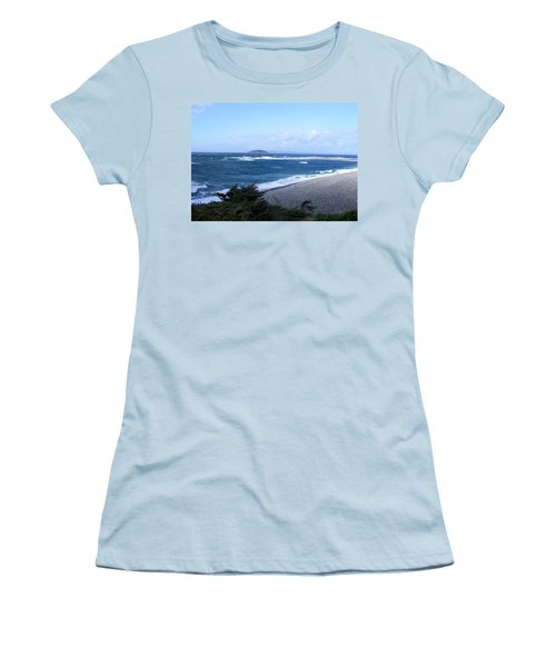 Women's T-Shirt (Junior Cut) featuring the photograph Rough Day On The Point by Barbara Griffin