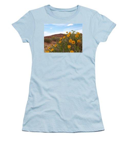 Rough Mulesear Flowers Women's T-Shirt (Junior Cut) by Jenessa Rahn