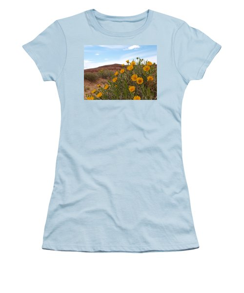 Rough Mulesear Flowers Women's T-Shirt (Athletic Fit)