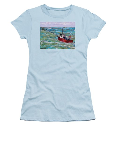 Rough Sea Women's T-Shirt (Athletic Fit)