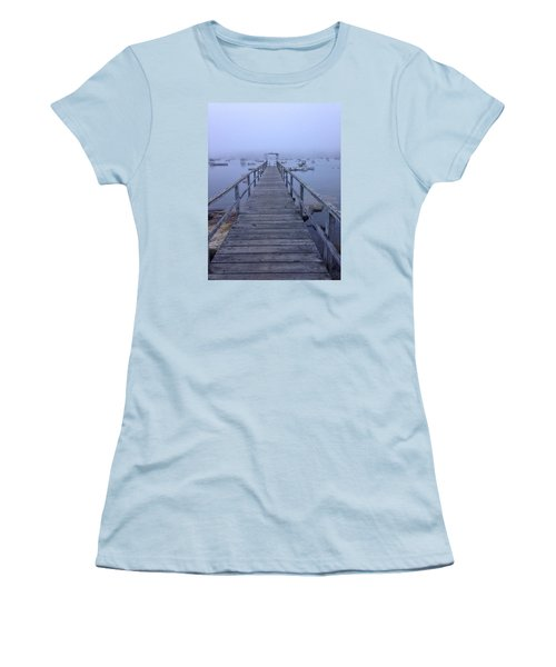 Women's T-Shirt (Junior Cut) featuring the photograph Round Pond by Olivier Calas