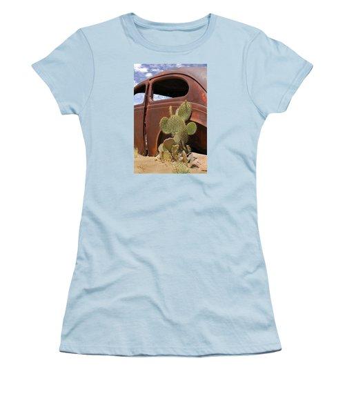 Route 66 Cactus Women's T-Shirt (Junior Cut) by Mike McGlothlen