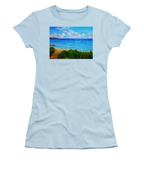 Rullsands Beach / Sweden-gaevle Women's T-Shirt (Athletic Fit)