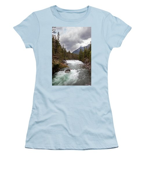 Women's T-Shirt (Athletic Fit) featuring the photograph Rushing Waters by Fran Riley