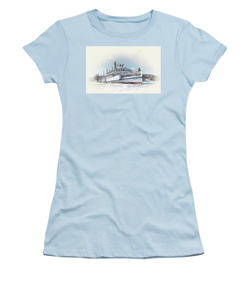 Women's T-Shirt (Junior Cut) featuring the photograph S. S. Sicamous II by John Poon