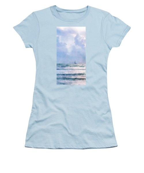 Sail At Sea Women's T-Shirt (Junior Cut) by Francesa Miller