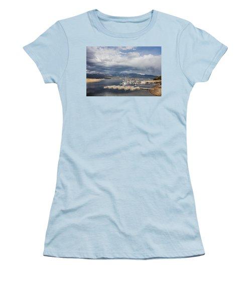 Sailboat Slips On Lake Granby In Grand County Women's T-Shirt (Junior Cut) by Carol M Highsmith