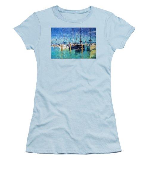 Sailboats At Balatonfured Women's T-Shirt (Athletic Fit)