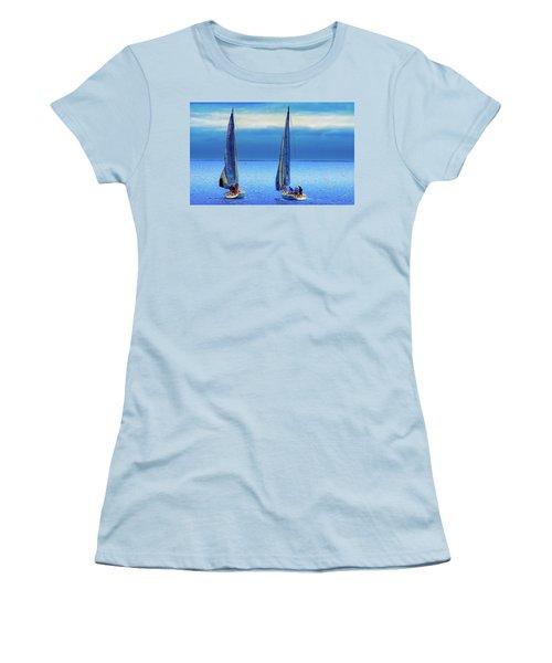 Sailing In The Blue Women's T-Shirt (Junior Cut) by Joseph Hollingsworth